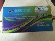 100% authentic Angtropin rhGH Somatropin 200iu/kit 191 amino acid sequence natural growth hormone production